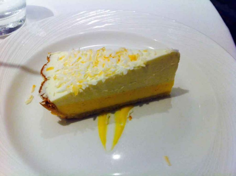 Lemon mouse cake l think this was. Cruise ship food is amazing