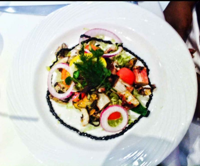Crab salad that was so good, l asked for a second helping. Sorry for some of the fuzzy images..a little wine.. :-)