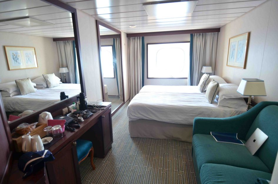 Spacious..over 165 square feet...way more than my last cruise several years ago :-)
