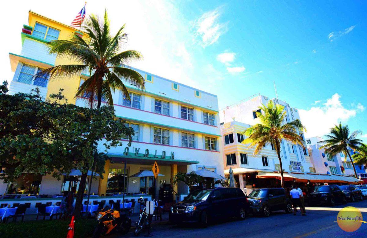 ocean drive Miami florida art deco building