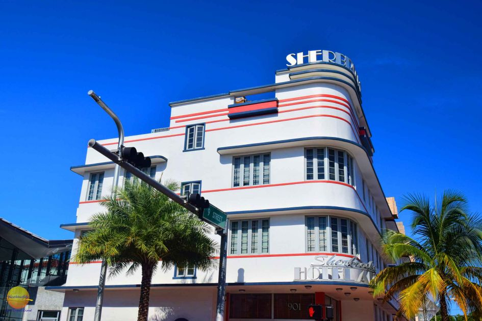 Art deco building miami