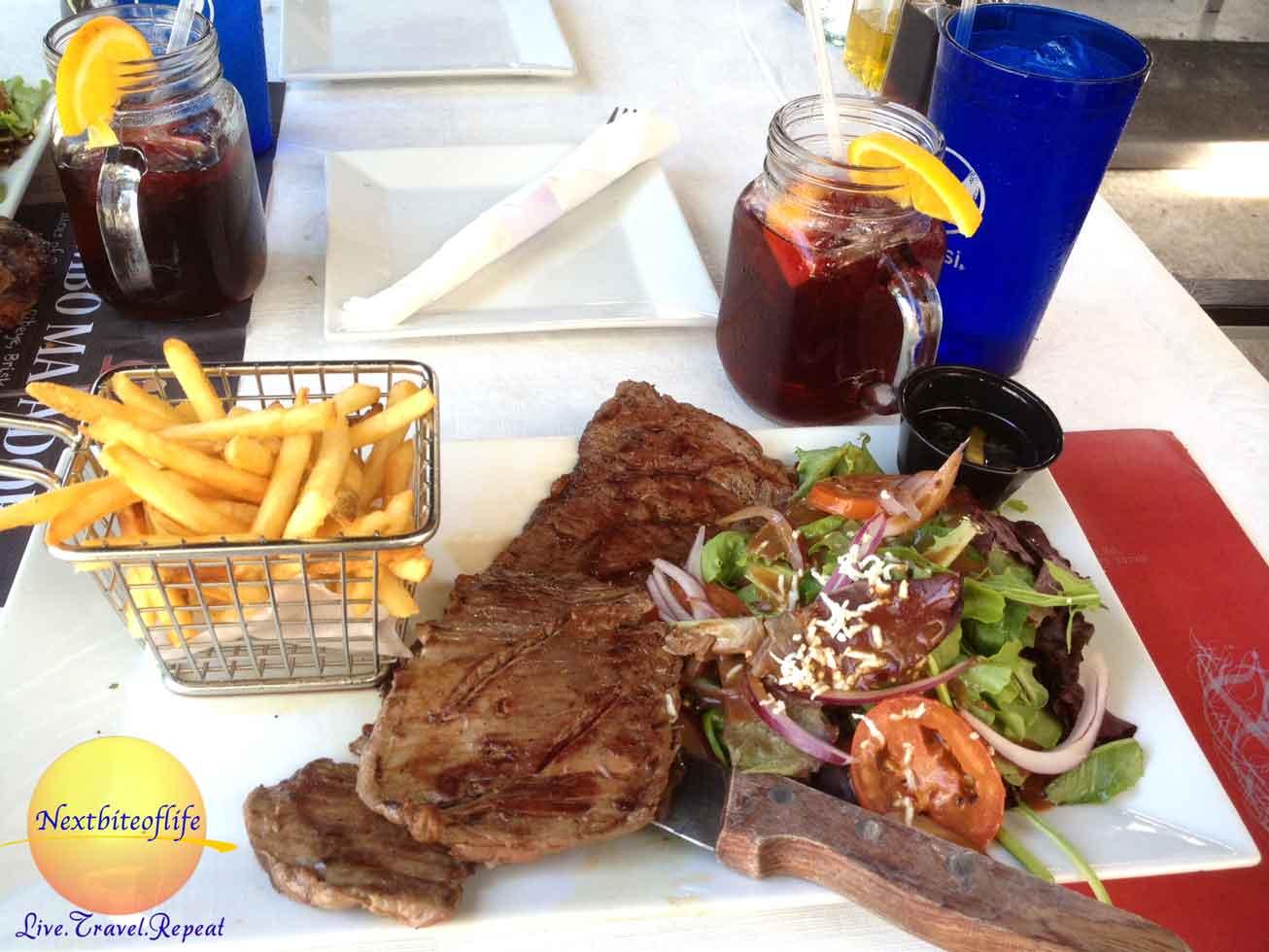 argentinian steak plate im miami