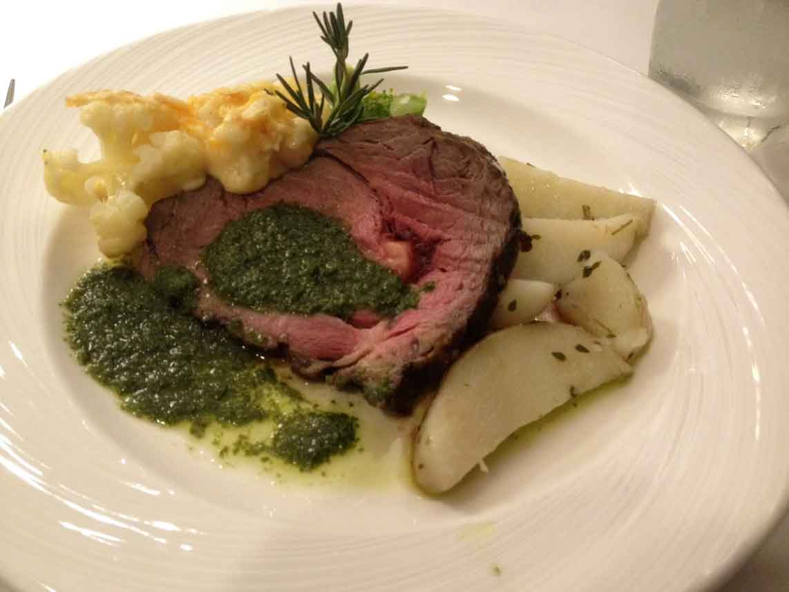 This steak melted in your mouth and the parsley sauce was to die for.