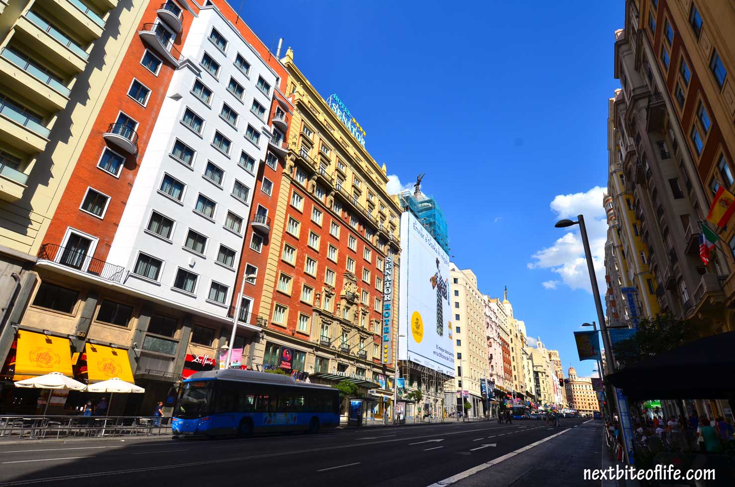 how to spend a day in madrid- grand via