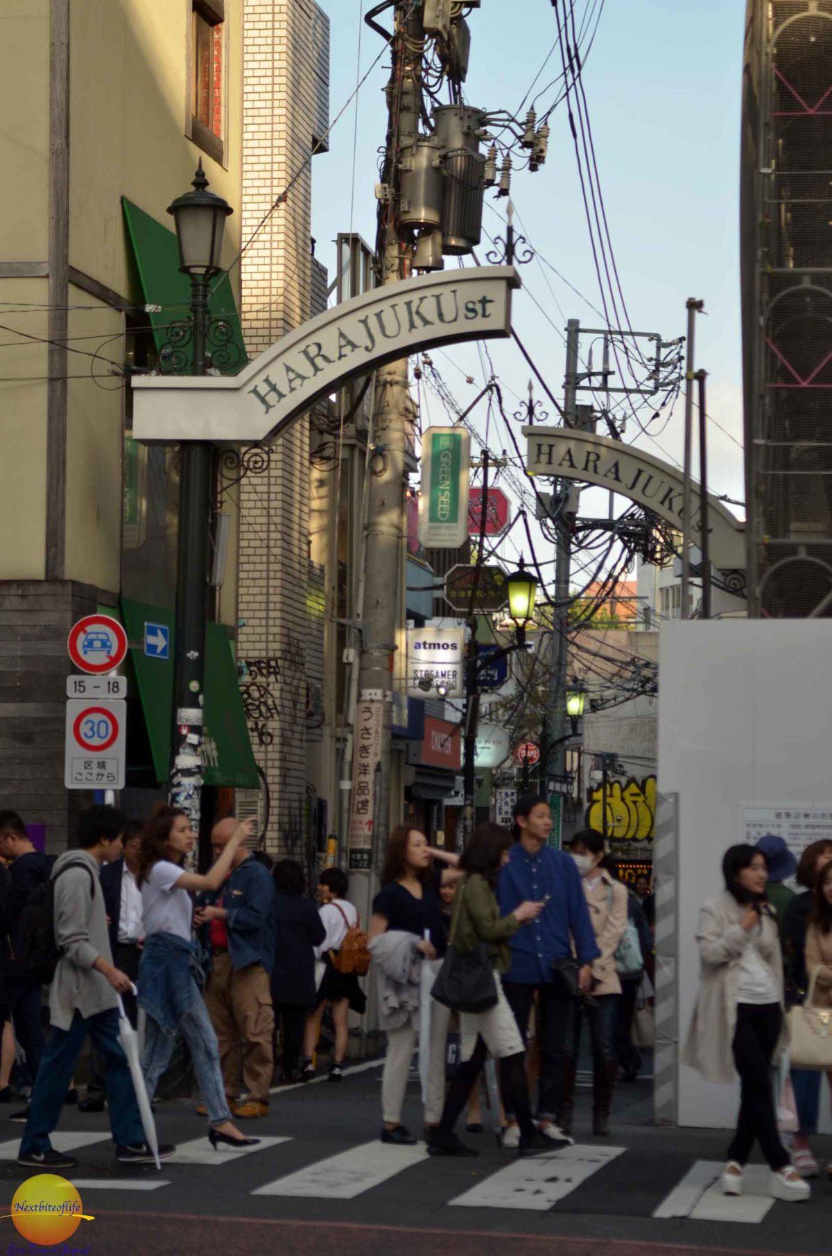 harajuku street in Shibuya 109 district