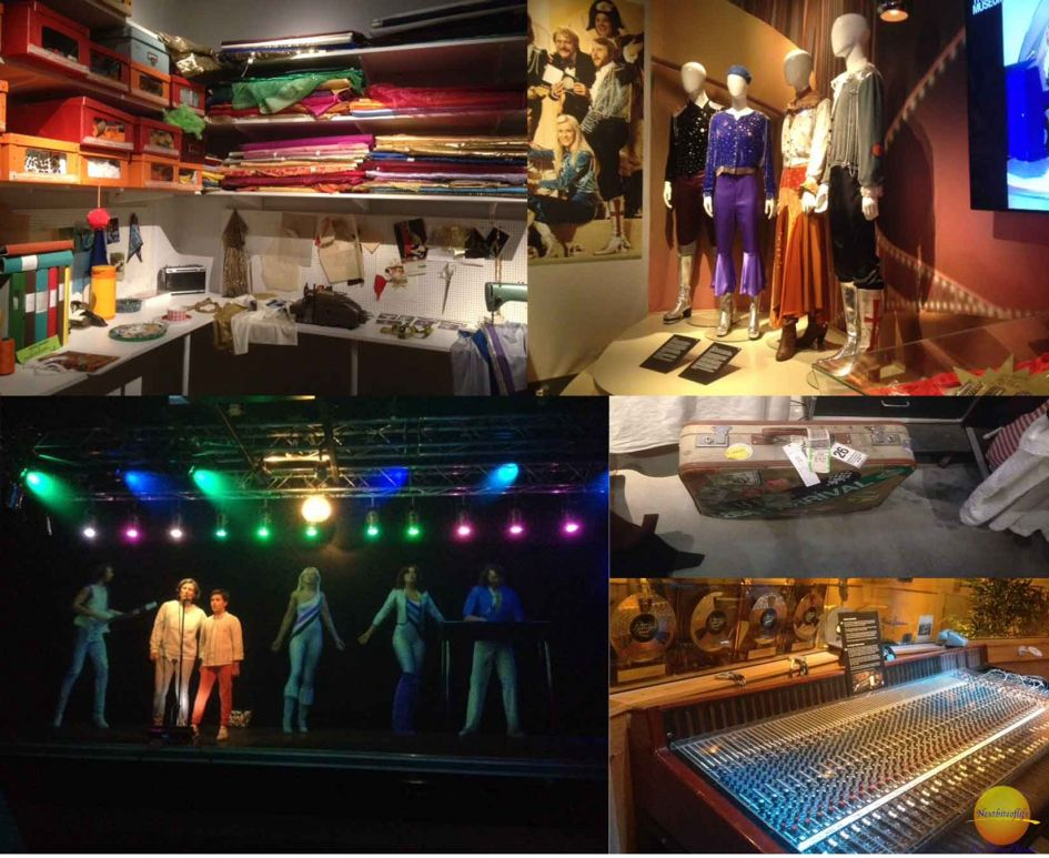 collection of ABBA memorabilia, one of the must visit places in Stockholm