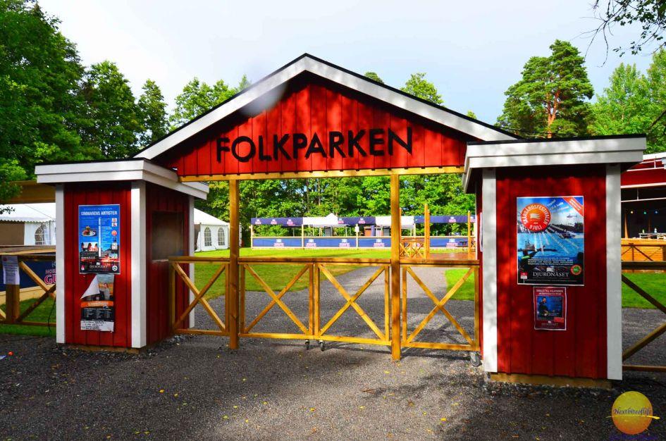 Folk dancing venue on the grounds.