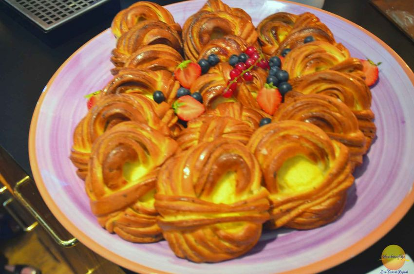 When in Sweden, do as the Swedes do. We had Fika :-) . One of the many pastries.