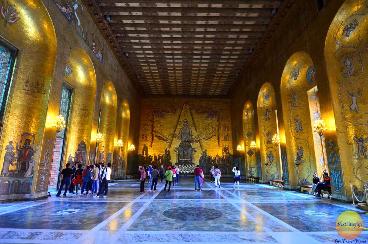 stockholm sweden surprises gold room city hall