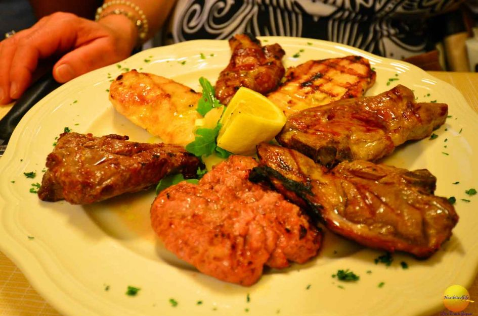 What to eat in Bologna Italy - A plate of meat! :-) . All kinds!