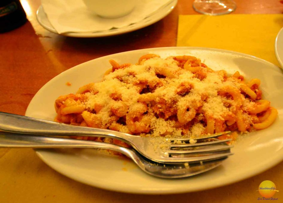 pasta is definitely a must eat in Bologna
