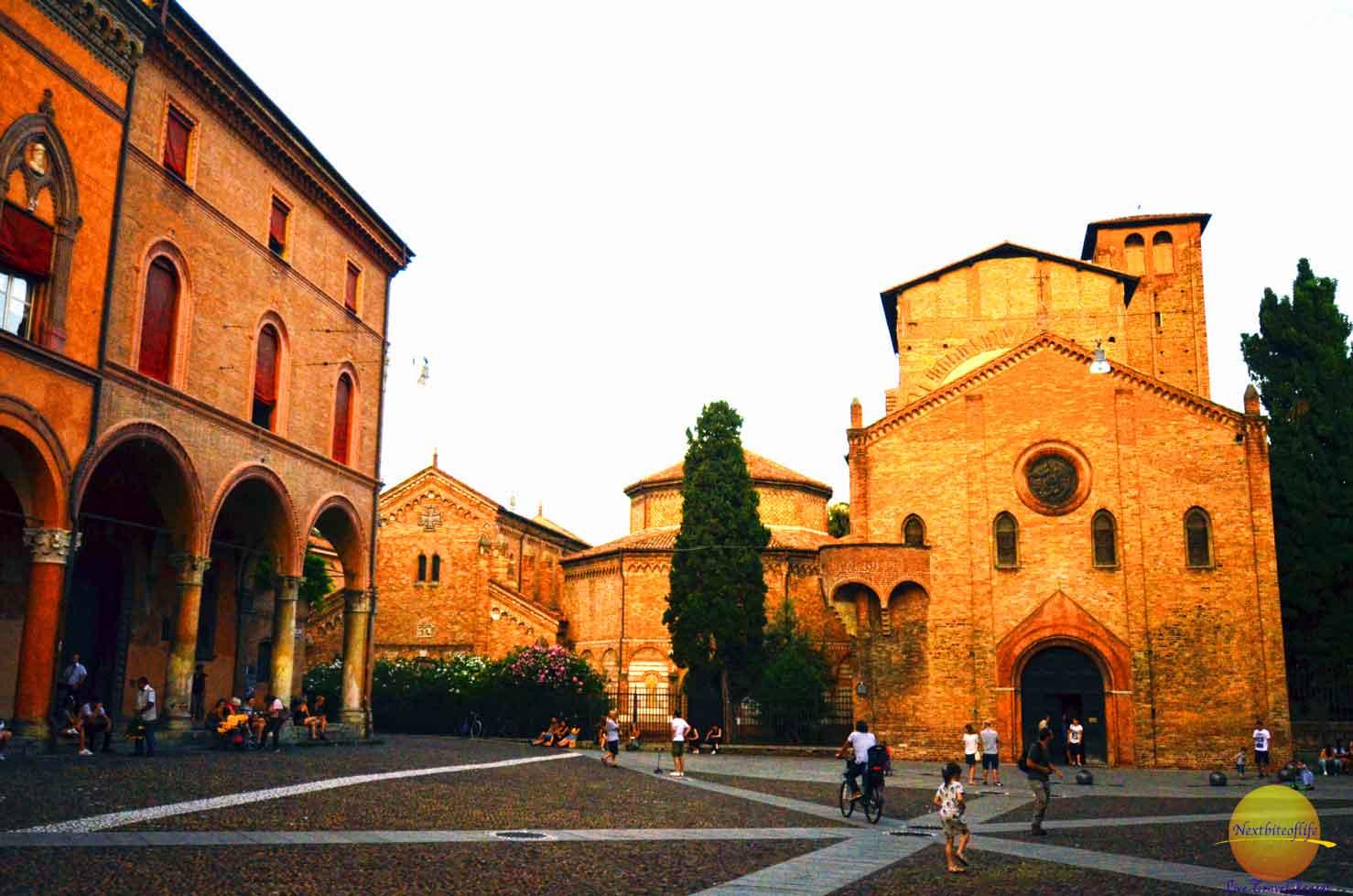 bologna italy piazza de san sefano
