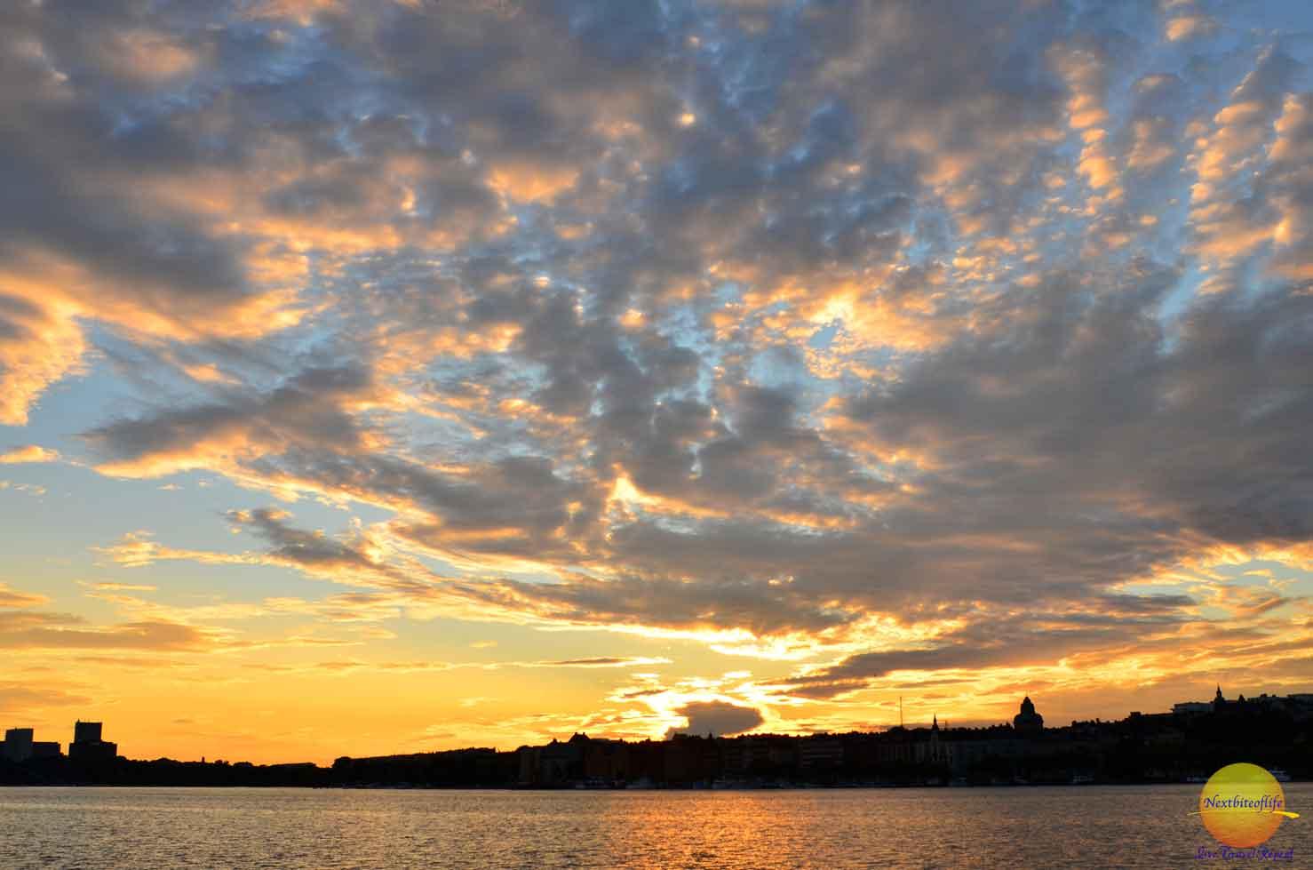stockholm sweden surprises sunset