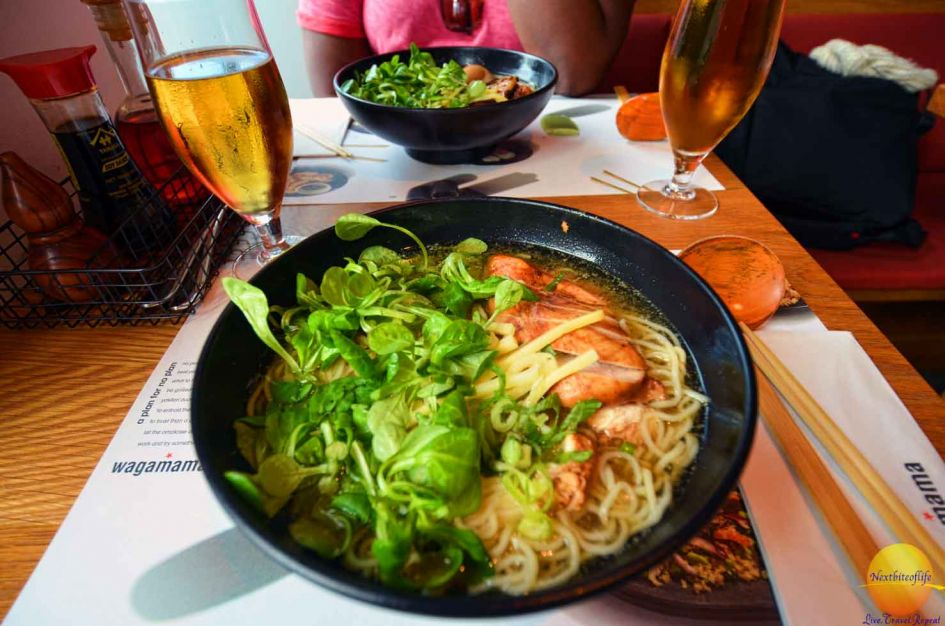 Wagamama noodle bowl in Stockholm