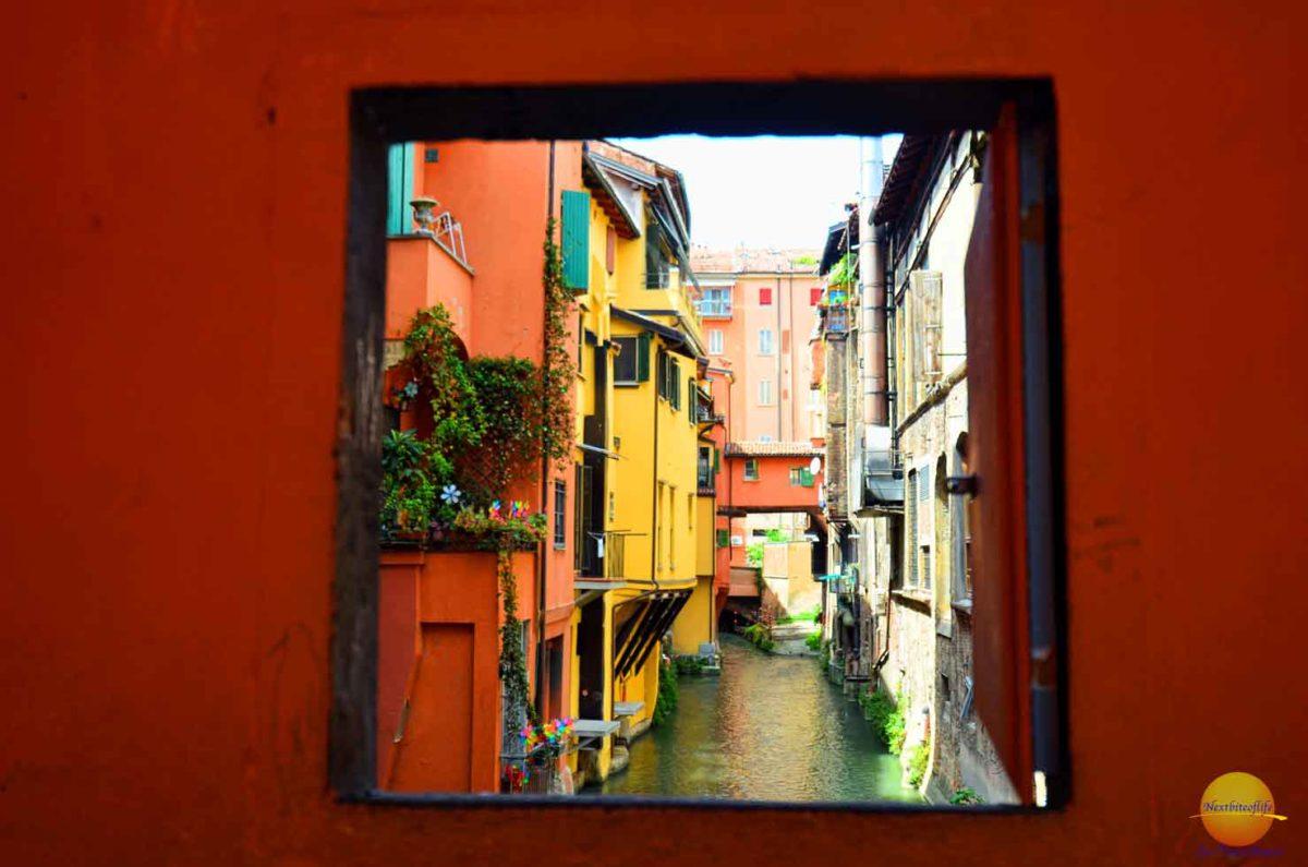 bologna italy via piella window