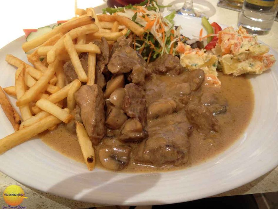 Portuguese version of beef and gravy.