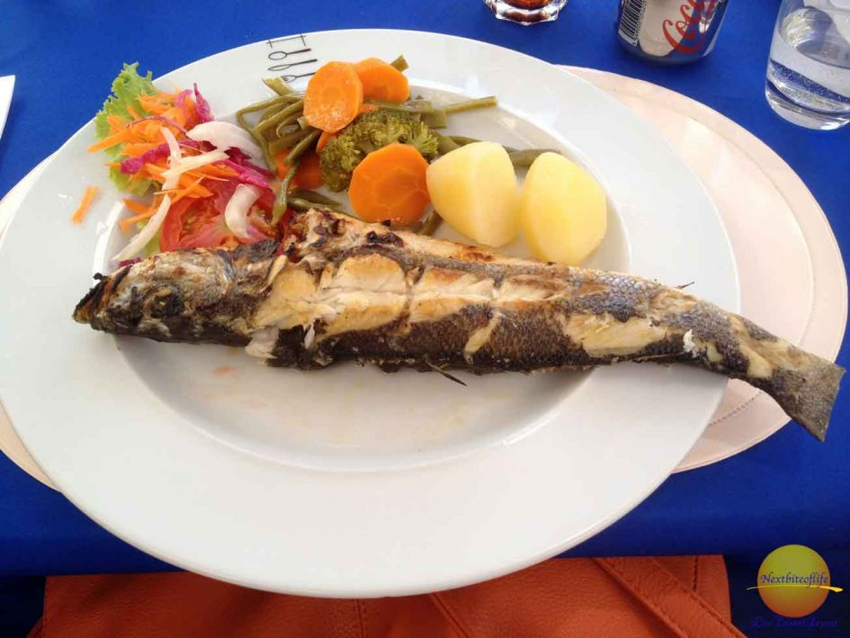 whole fish at lagos portugal restaurant!