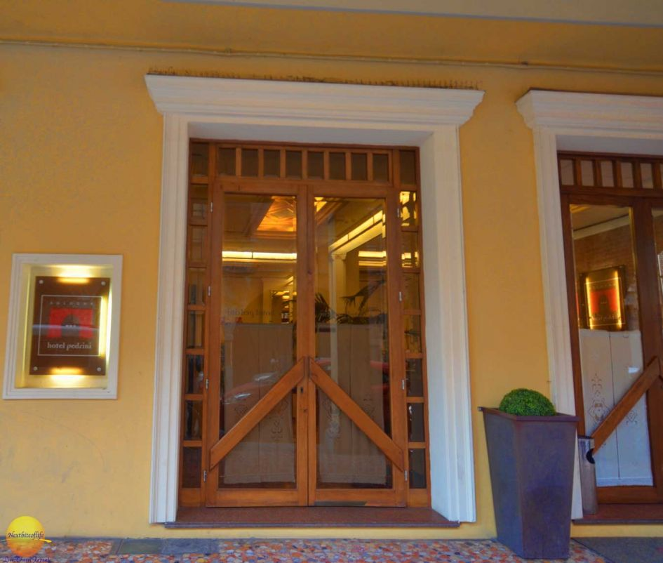 bologna italy photel pedrini entrance