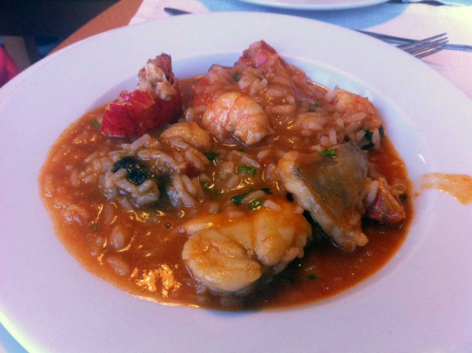 Seafood risotto which was quite good in portugal.