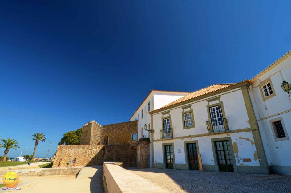 Part of the old city wall that remains in Lagos Portugal