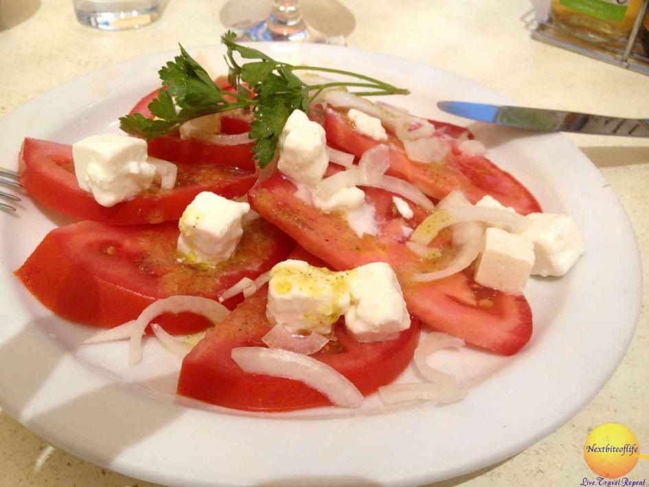 `Caprese salad in Lagos Portugal restaurant