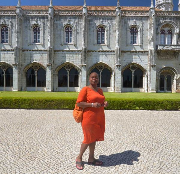me in fron to monastery in Belem Portugal