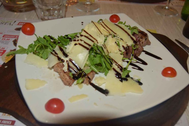 warm greetings from rainy but wonderful rome steak plate