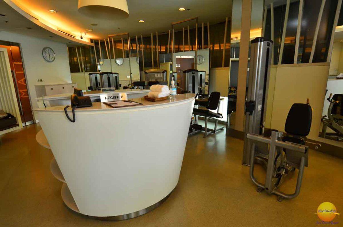 chatrium hotel riverside reception gym