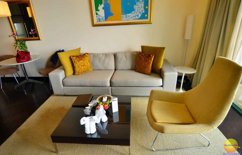 The living room area chatrium hotel riverside