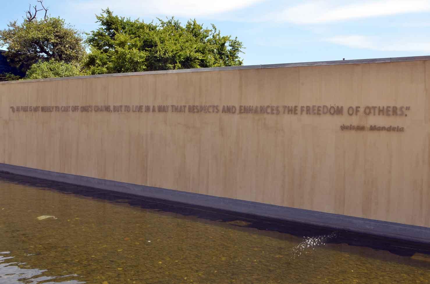 emotional visit apartheid museum mandela quote