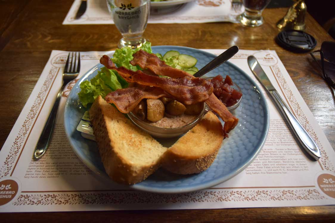 that was quick meal wth bacon copenhagen