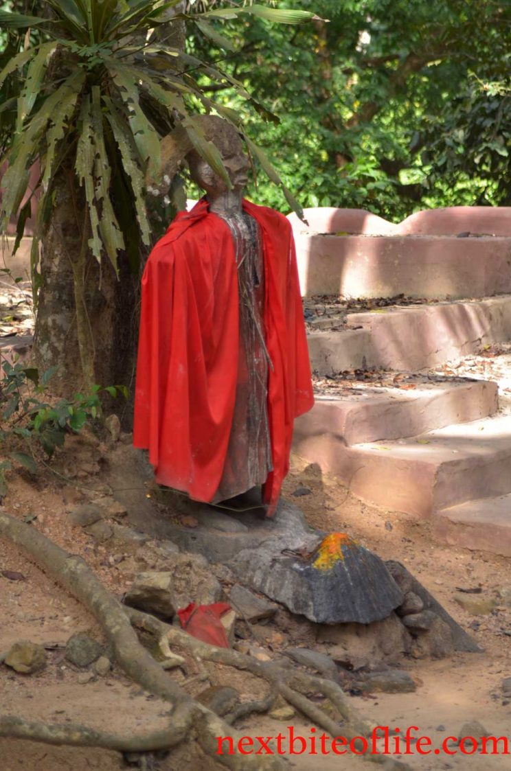Altar of troubled kids at osun sacred grove