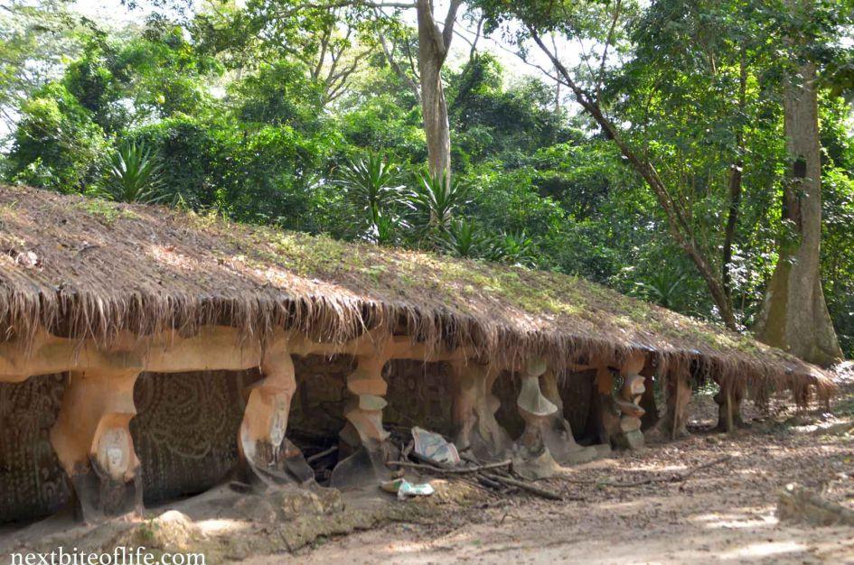 osun oshogbo sacred grove side view palace