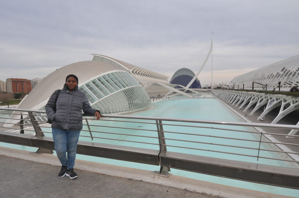 me in front of city of arts and sciences valencia