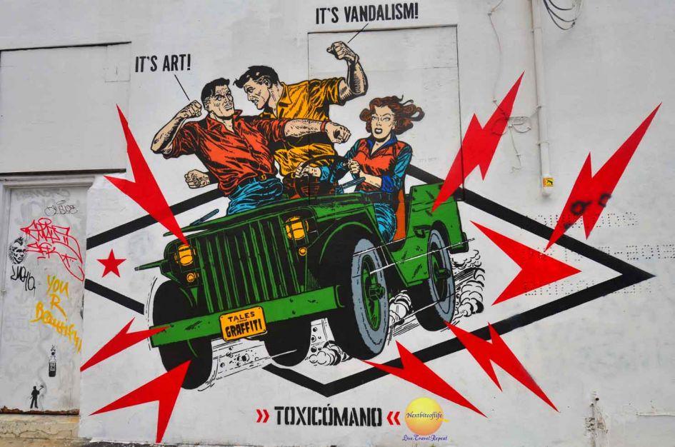 art or vandalism mural