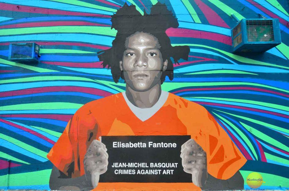 colorful graffiti basquait Miami