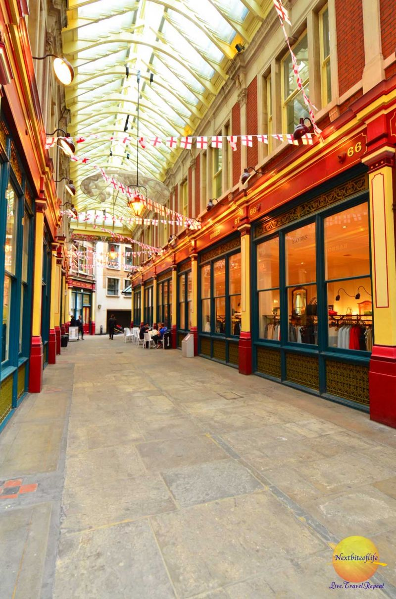 side view barbour store leadenhall market