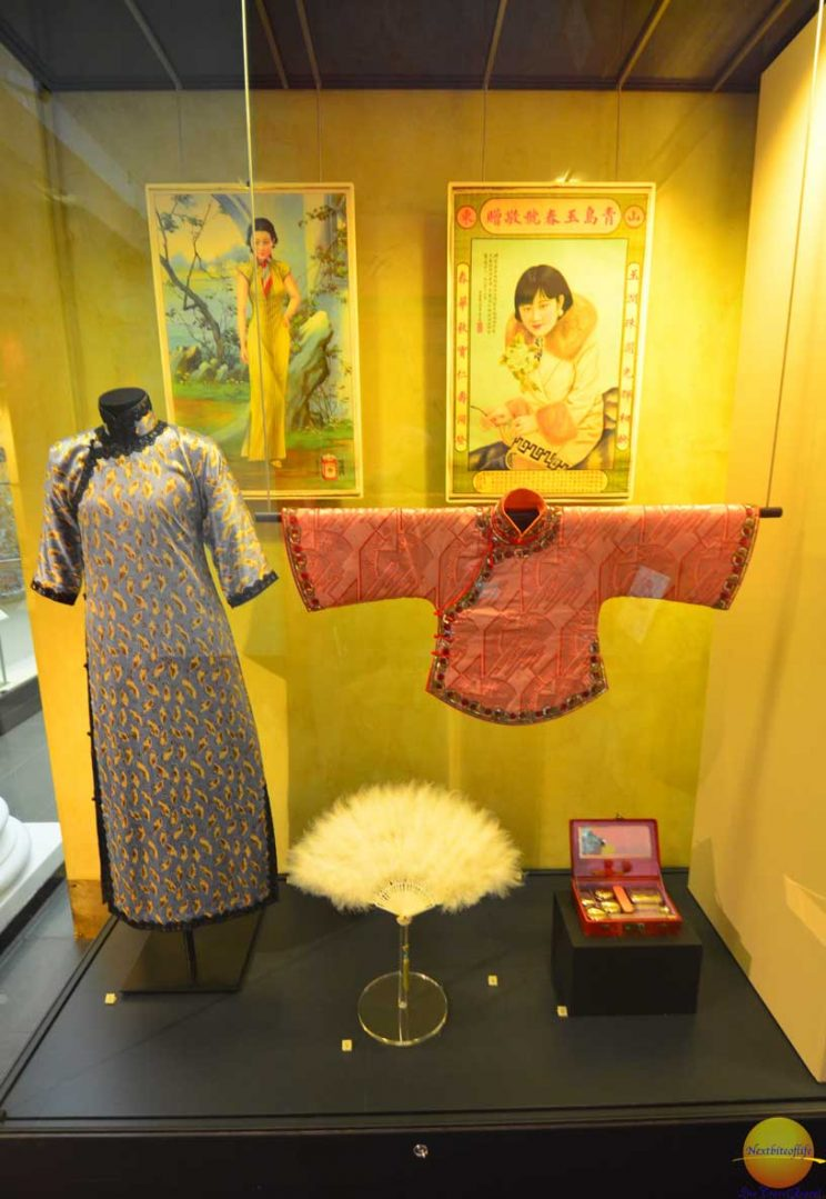 Chinese kimono on display in museum