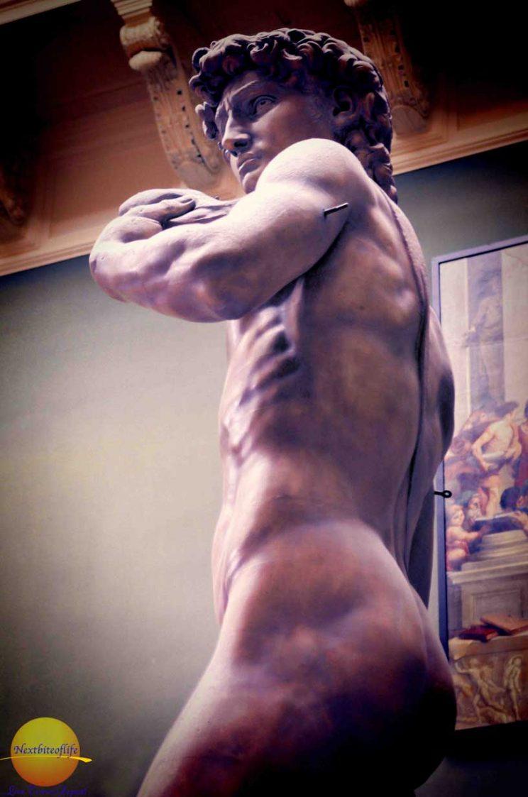 David sculpture replica at the V & A museum in London