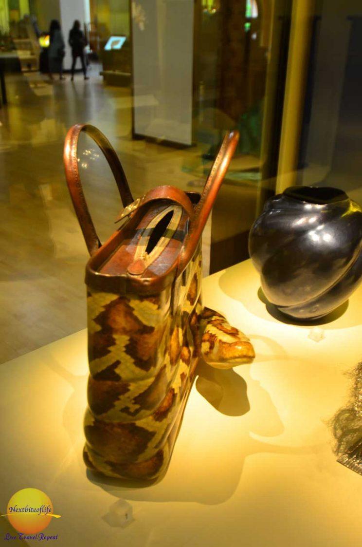 victoria and albert museum python bag