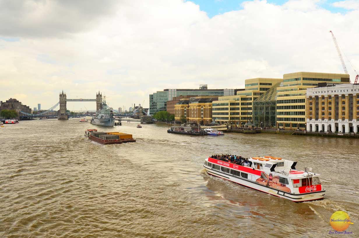 view of tower bridge from London bridge