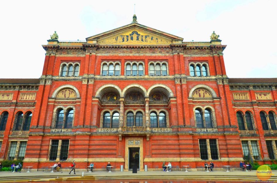 Back entrance of Victoria and Albert Museum London