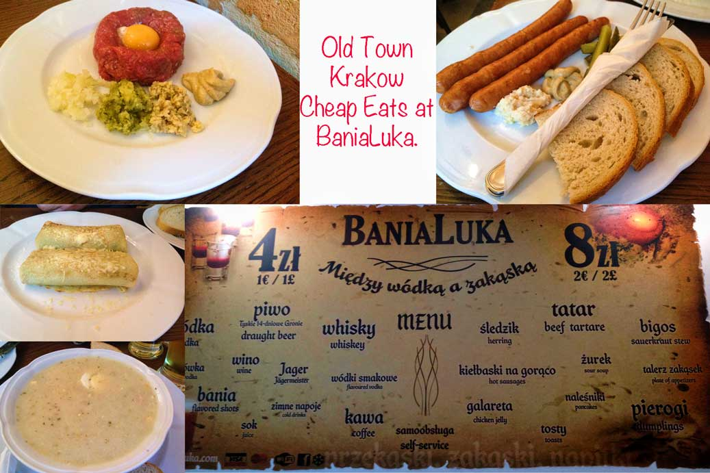 BaniaLuka Krakow menu and food on our cool useful Krakow guide