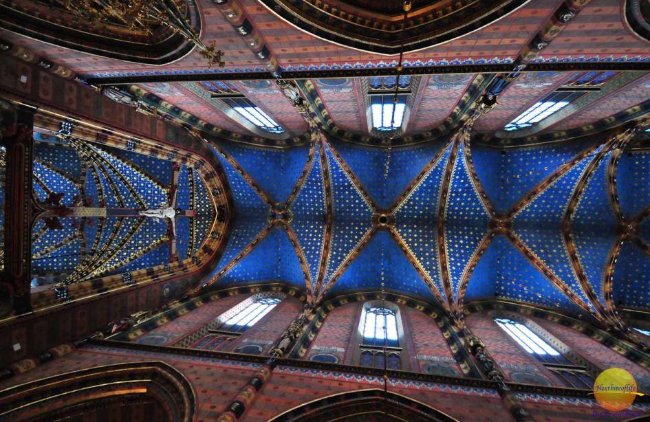 St Mary's Basilica Krakow ceiling.