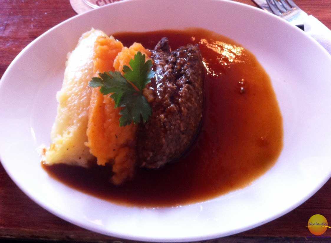 haggis plate with neeps and tatties scotland
