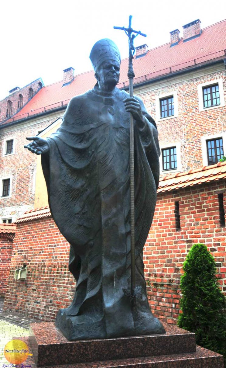 cool useful krakow guide Pope John Paul II statue