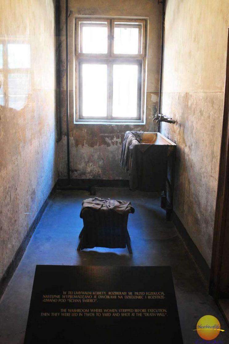 Auschwitz camp changing room women