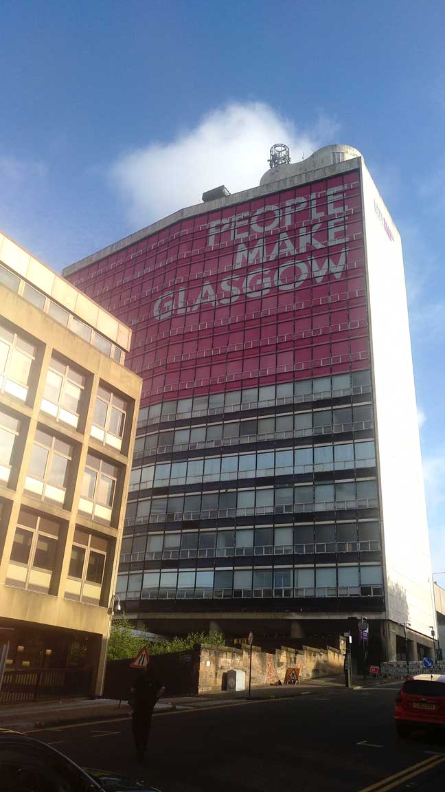 people make glasgow sign Glasgow visitor guide