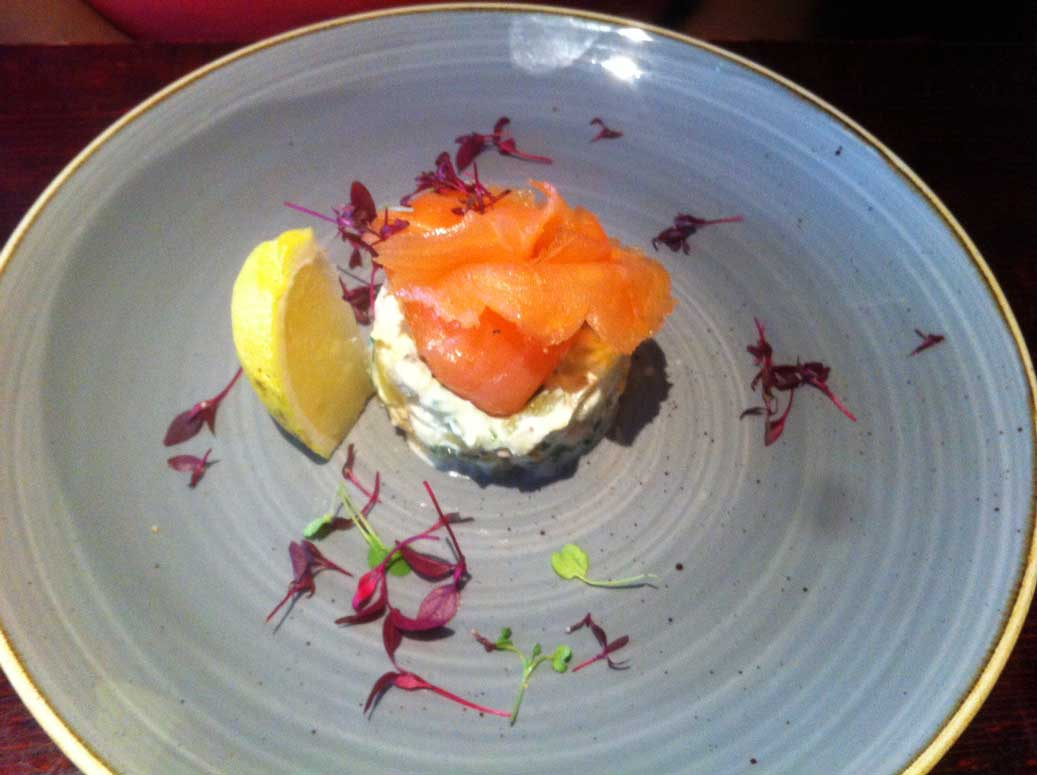 glasgow food guide salmon appetizer