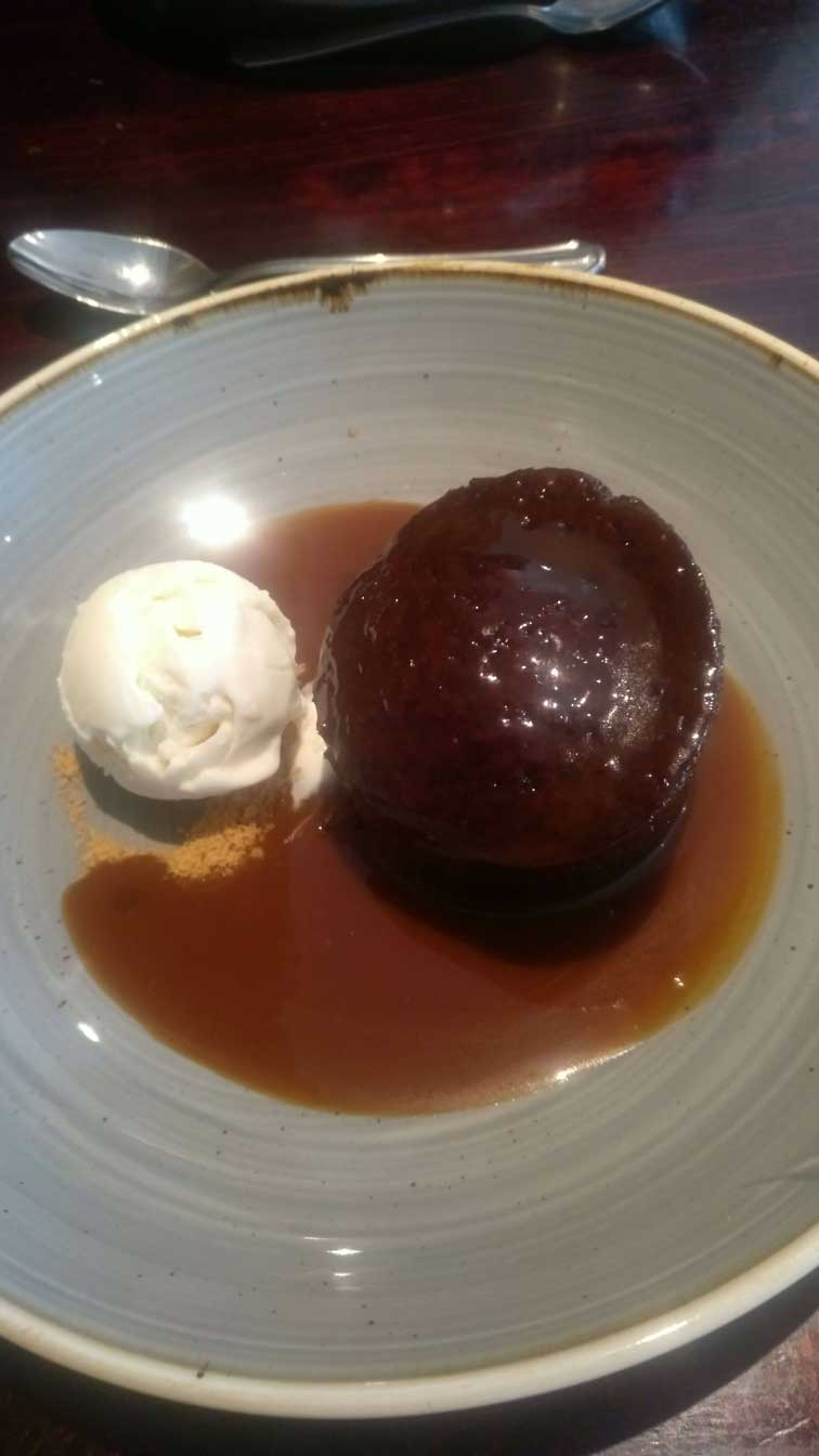 sticky toffee pudding bothys
